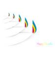 happy diwali celebration template in paper cut vector image vector image