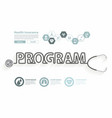 health program ideas concept with stethoscope vector image