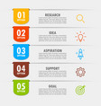 infographic elements in modern fashion vector image vector image