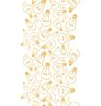 Light bulbs line art vertical seamless pattern vector image