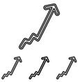 Line progress logo design set vector image vector image