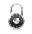 Lock black Security Concept padlock vector image vector image