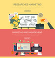 management and marketing research items vector image