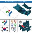 mapo district seoul city south korea vector image vector image