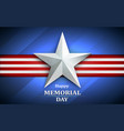 memorial day with star on national flag background vector image
