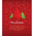Merry Christmas red postcard vector image vector image