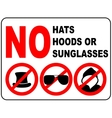 No sunglasses sign on white background vector image vector image