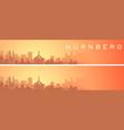 nuremberg beautiful skyline scenery banner vector image vector image