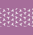 origami hummingbird seamless pattern vector image vector image