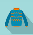 pullover icon flat style vector image vector image