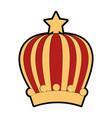queen or king crown vector image vector image