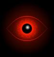 red eye ball vector image