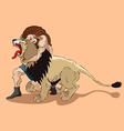 Samson and lion vector image vector image