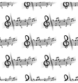 Seamless musical composition with music notes vector image