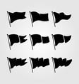set flag symbol design vector image vector image