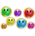 set of button with expressions vector image vector image