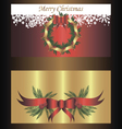 Set of two separated banners for christmas vector image vector image