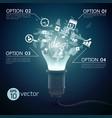 splinter ideas bulb concept vector image vector image