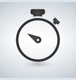 stopwatch stop watch timer flat icon for apps and vector image
