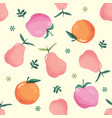 summer seamless pattern with fruits festive vector image