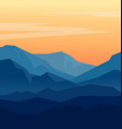 twilight in blue mountains vector image vector image
