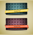 two grunge banner set vector image vector image