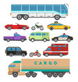 urban vehicle set vector image