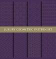 vintage geometric pattern pack vector image vector image