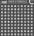 war symbols icons set vector image