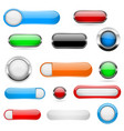 web buttons colored set 3d shiny icons vector image vector image