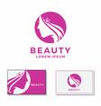 women beauty face logo vector image