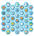 Modern flat traveling and tourism icons set vector image