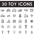 toy icons set vector image
