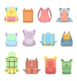 Backpack Suitcase and Bag Set for School Travel vector image