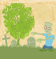 zombie coming out of his grave vector image