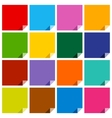 16 colored blank squares vector image vector image