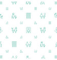 adult icons pattern seamless white background vector image vector image