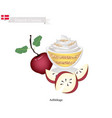 aeblekage or apple cake popular dessert in denmar vector image vector image