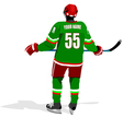 al 0711 hockey poster 03 vector image vector image