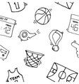 Basketball Elements Pattern vector image vector image