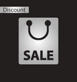 black and white style icon package sale vector image vector image