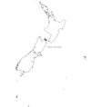 Black White New Zealand Outline Map vector image vector image