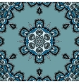 Blue seamless mandala flayer design in tribal vector image vector image