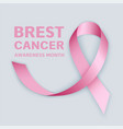 Breast cancer month concept banner realistic