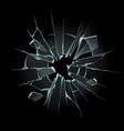 broken window glass broken windshield shattered vector image vector image