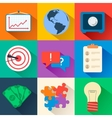Business flat icons for infographic design vector image vector image