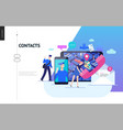 business series - contacts web template vector image vector image