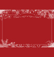 christmas winter snowflake retro border and red vector image