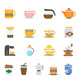 Color icon set - coffee and tea vector image vector image