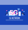 creative 5g technology concept with smartphone vector image